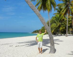 Sur la plage, en Martinique